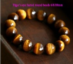 Tiger Eye Facted Round Beads